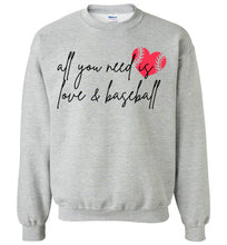 Load image into Gallery viewer, Love and Baseball Crewneck