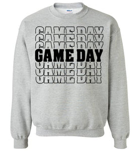 Game Day Design- Available on Our Tees and Sweatshirts!