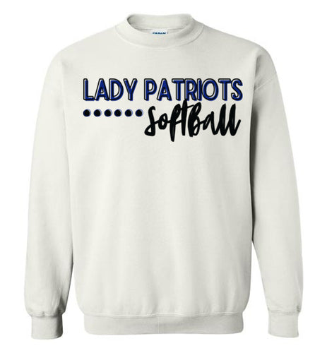 Lady Patriots Softball Script Crewneck