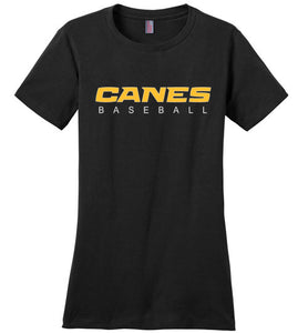 Canes Baseball Ladies' Tee