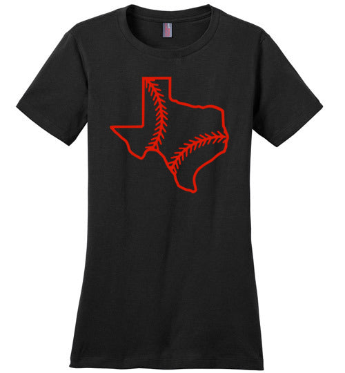 Texas Baseball Ladies Tee
