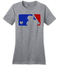 Load image into Gallery viewer, Love Softball Design- Design available in our soft tees and hoodies!