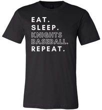 Load image into Gallery viewer, Eat. Sleep. Knights. Tee