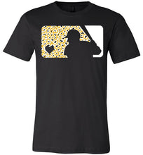 Load image into Gallery viewer, Love Baseball Leopard Edition White & Gold Tee