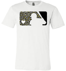 Love Baseball Leopard Edition Black & Gold Tee