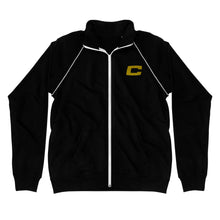 Load image into Gallery viewer, C Embroidered Piped Fleece Jacket
