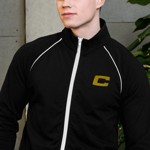 C Embroidered Piped Fleece Jacket