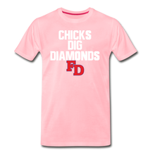 Load image into Gallery viewer, Fort Dorchester Chicks Dig Diamonds Tee - pink