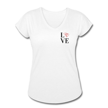 Load image into Gallery viewer, Love SC Baseball Women's Tri-Blend V-Neck T-Shirt - white