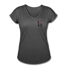 Load image into Gallery viewer, Love SC Baseball Women's Tri-Blend V-Neck T-Shirt - deep heather