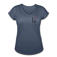 Load image into Gallery viewer, Love SC Baseball Women's Tri-Blend V-Neck T-Shirt - navy heather