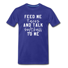 Load image into Gallery viewer, Tacos and Softball  Premium T-Shirt - royal blue