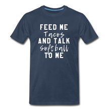 Load image into Gallery viewer, Tacos and Softball  Premium T-Shirt - navy