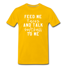 Load image into Gallery viewer, Tacos and Softball  Premium T-Shirt - sun yellow