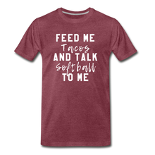 Load image into Gallery viewer, Tacos and Softball  Premium T-Shirt - heather burgundy