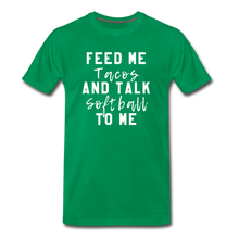 Load image into Gallery viewer, Tacos and Softball  Premium T-Shirt - kelly green