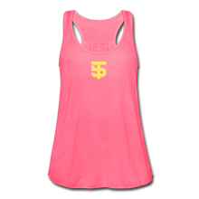 Load image into Gallery viewer, Five Tool Women's Flowy Tank Top by Bella - neon pink