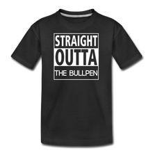 Load image into Gallery viewer, Straight Outta The Bullpen Kids' Premium Tee - black