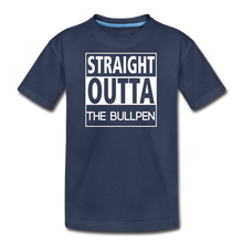 Load image into Gallery viewer, Straight Outta The Bullpen Kids' Premium Tee - navy
