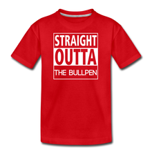 Load image into Gallery viewer, Straight Outta The Bullpen Kids' Premium Tee - red
