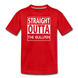 Straight Outta The Bullpen Kids' Premium Tee - red