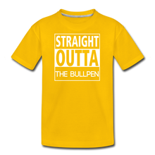 Load image into Gallery viewer, Straight Outta The Bullpen Kids' Premium Tee - sun yellow