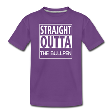 Load image into Gallery viewer, Straight Outta The Bullpen Kids' Premium Tee - purple