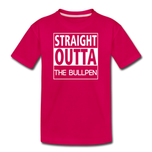 Load image into Gallery viewer, Straight Outta The Bullpen Kids' Premium Tee - dark pink