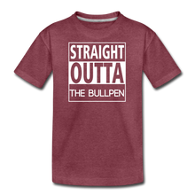 Load image into Gallery viewer, Straight Outta The Bullpen Kids' Premium Tee - heather burgundy