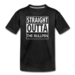 Straight Outta The Bullpen Kids' Premium Tee - charcoal gray