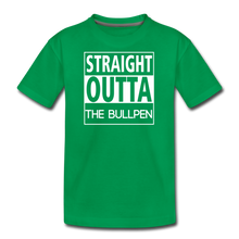 Load image into Gallery viewer, Straight Outta The Bullpen Kids' Premium Tee - kelly green