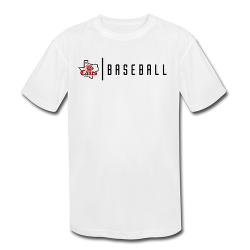 TCE Baseball Youth Dri-Fit - white