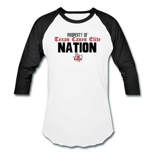 TCE Nation Baseball T-Shirt - white/black
