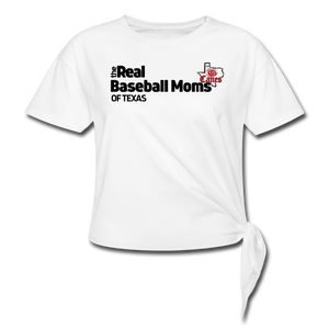 TCE Real Baseball Moms Women's Knotted T-Shirt - white