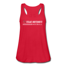 Load image into Gallery viewer, Texas Hotshots Baseball Women's Flowy Tank Top by Bella - red