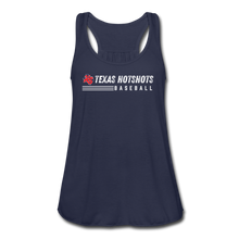 Load image into Gallery viewer, Texas Hotshots Baseball Women's Flowy Tank Top by Bella - navy