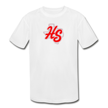 Load image into Gallery viewer, HotShots Logo Youth Dri-Fit - white