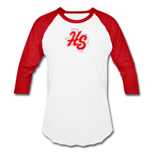 Load image into Gallery viewer, HotShots Logo Baseball T-Shirt - white/red
