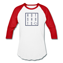 Load image into Gallery viewer, HotShots Square Baseball T-Shirt - white/red