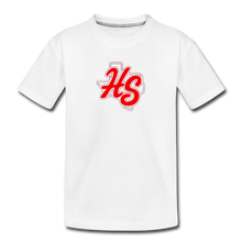 Load image into Gallery viewer, HotShots Logo Toddler Premium T-Shirt - white