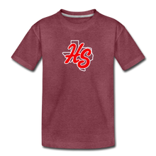Load image into Gallery viewer, HotShots Logo Toddler Premium T-Shirt - heather burgundy