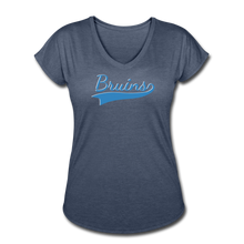 Load image into Gallery viewer, Beaumont Bruins Women's Tri-Blend V-Neck T-Shirt - navy heather