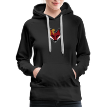 Load image into Gallery viewer, Swamp Fox Cheerleading Glitter Text Women's Premium Hoodie - black