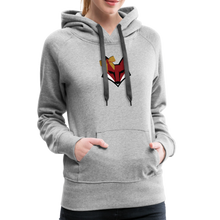 Load image into Gallery viewer, Swamp Fox Cheerleading Glitter Text Women's Premium Hoodie - heather gray