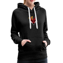 Load image into Gallery viewer, Swamp Fox Cheerleading Glitter Text Women's Premium Hoodie - charcoal gray