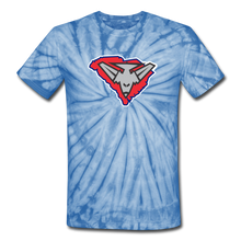Load image into Gallery viewer, East Coast Bombers Logo Unisex Tie Dye T-Shirt- Customize Me! - spider baby blue
