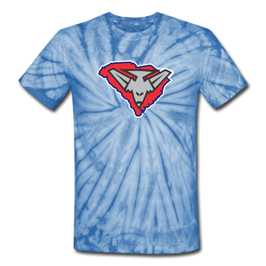 East Coast Bombers Logo Unisex Tie Dye T-Shirt- Customize Me! - spider baby blue