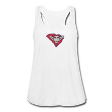 Load image into Gallery viewer, East Coast Bombers Logo Women's Flowy Tank Top by Bella - white