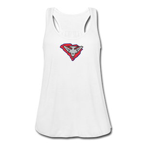 East Coast Bombers Logo Women's Flowy Tank Top by Bella - white
