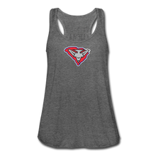 Load image into Gallery viewer, East Coast Bombers Logo Women's Flowy Tank Top by Bella - deep heather